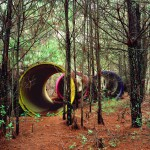 Three Circles, Forest Interventions, 2012. Inkjet print on luster photographic paper, 140x110 cm. Ed. 5+2 AP