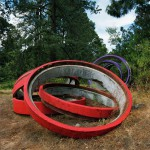 Red rings, Forest Interventions, 2012. Inkjet print on luster photographic paper, 140x110 cm. Ed. 5+2 AP