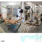 Those Woods I, 2014. Photography, wood, methacrylates and PVC, 141 X 136 X 3,5 cm.