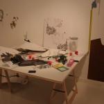 Parachute, 2010. Wood, PVC, vinyl and enamel, variable dimensions. Gallery Paz y comedias, Valencia