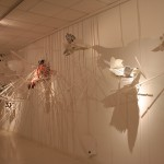 Parachute, 2010. Wood, PVC, vinyl and enamel, variable dimensions. Gallery Paz y comedias, Valencia.