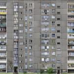 W-70, 2007. 2D. Anamorphic photographic wallpaper, 210 x 250 x 150 cm