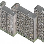 Axonometric Housing Estate, Manhattan, 2007.Lambda D print mounted on plexiglas, 131 x 97 cm