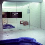 Jacuzzi Queens, New York, 2001-2004. Silicone color photograph on methacrylate, 32 x 26 cm
