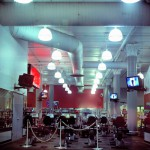 Fitness club Manhattan, New York, 2001-2004. Silicone color photograph on methacrylate, 32 x 26 cm