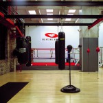 Boxing training center Manhattan, New York, 2001-2004. Silicone color photograph on methacrylate, 32 x 26 cm