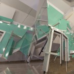 The Triumph of the Time and Disillusion, 2012. Aluminum, vinyl, PVC, plexiglass and wood, variable dimensions.