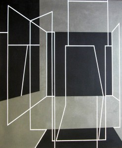 Emilio Gañan. Espacio vacio, oleo s lienzo, 72 x62 cm