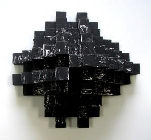 Emilio Gañan.Egeo, 2009, 49,5 x 34 x30cm, oleo sobre madera