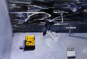 MP&MP ROSADO.Scratches 2007.Pintura e impresión digital sobre papel arches.152 x 101 cm