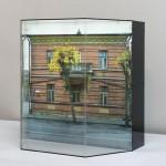 Daugavpils/Dvinsk/Dyneburg/Borisoglebsk, [Cinema], 2013. Lambda Duratrans Print in plexiglas gabinet covered with control view film, 40 x 42 x 25 cm.