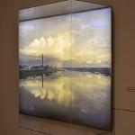 Daugavpils/Dvinsk/Dyneburg/Borisoglebsk, [River], 2013. Lambda Duratrans Print in plexiglas gabinet covered with control view film, 105 x 125 x 40 cm.