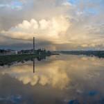 Daugavpils/Dvinsk/Dyneburg/Borisoglebsk, [River], 2013. Lambda Duratrans Print in plexiglas gabinet covered with control view film, 40 x 50 x 25 cm.