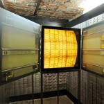 The Safe, (installation view, doors opened), 2009. Lightbox, mirrors, aluminium, Lambda prints, 60x60x90cm