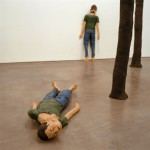 Han Dormido Mucho Tiempo en el Bosque. 2002. Installation, terracotta, paint, wax, lifesize. Exhibition view, Gallery Pepe Cobo, Seville.