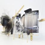 Preparing the Space, 2014. Colour print, plexiglass, PVC, wood. 130 x 69 x 37 cm.