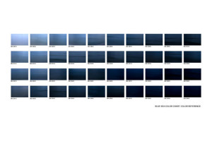 Blue sea color chart.2010. 75 x 110 cm.