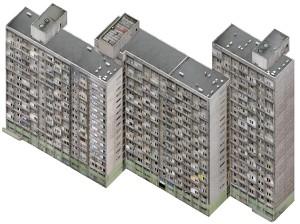 Axonometric Housing Estate. Manhattan, 2007.Lambda D print. 131 x 97 cm