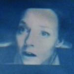 Contact. Un evento celeste No, no hay palabras. No hay palabras para describirlo. Poesía! Deberían haber mandado a un poeta. Tan lindo. Tan lindo... yo no tenía ni idea, 2016. Solarization. 35 x 27 cm. Unique
