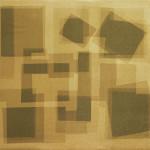 Heliographia I (khaki) 2016. Velvet mounted on wooden board, 90x100 cm.
