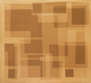 Heliografia I (rust), Velvet mounted on wooden board, 100x90 cm, 2016