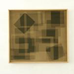 Heliographia I (olive), 2016. Velvet mounted on wooden board, 90x100 cm