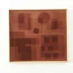 Heliographia I (plum), 2016. Velvet mounted on wooden board, 90x100 cm