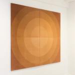 Heliographia II (Sun), 2017. Velvet mounted on four wooden boards, 180x200 cm