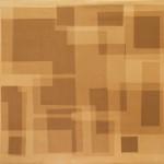 Heliographia I (rust), 2016. Velvet mounted on wooden board, 90x100 cm.