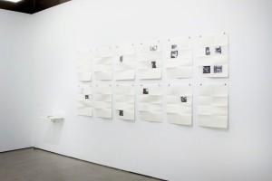 12 double face folded digital print. Offset matte 90g paper. Framed. 65 × 50 cm.