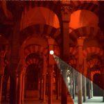 Iván Candeo, La Mezquita, 2019, Audible postcard with colour filter, 16.5 x 22cm