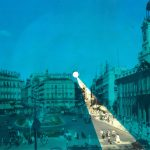 Iván Candeo, Puerta Del Sol Madrid 2019, Audible postcard with colour filter, 16.5 x 22cm