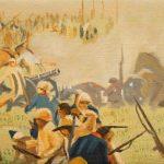 Iván Candeo, Taita Boves #4, Oil paint on canvas, 13 x 22cm