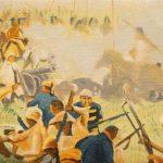 Iván Candeo, Taita Boves, Oil paint on canvas,  13 x 22cm, Detail.