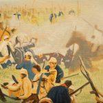 Iván Candeo, Taita Boves #5, Oil paint on canvas,  13 x 22cm