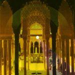 Iván Candeo, La Alhambra, 2019, Audible postcard with colour filter, 22 x 16.5 cm