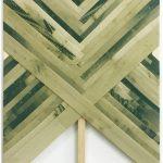 Bella sombra 2019. Bleach over poplin. 67 x 47,5 cm