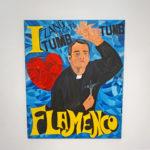 RAFAEL AGREDANO. I love flamenco, 1991. Mixed on canvas, 100 x 81 cm