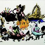 NAZARIO. Cabalgata de gigantes y cabezudos, 1988.