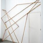 Cañería, 2020. Copper, bamboo. 240,00 x 258,00 x 38,00 cm